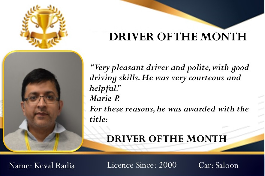 Driver of the month December